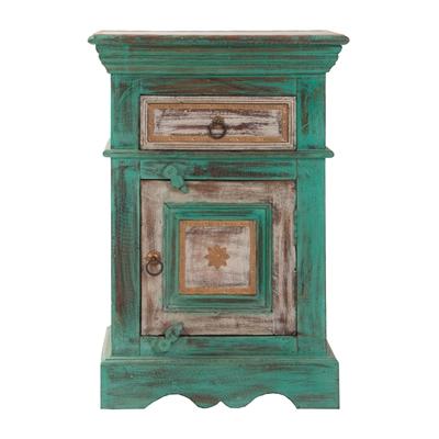 Green Acacia Wood Table