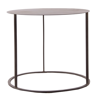Gunmetal Grey Metal Side Table