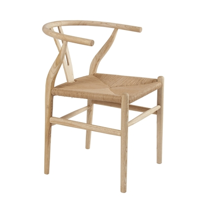 Light Oak Oriental Armchair