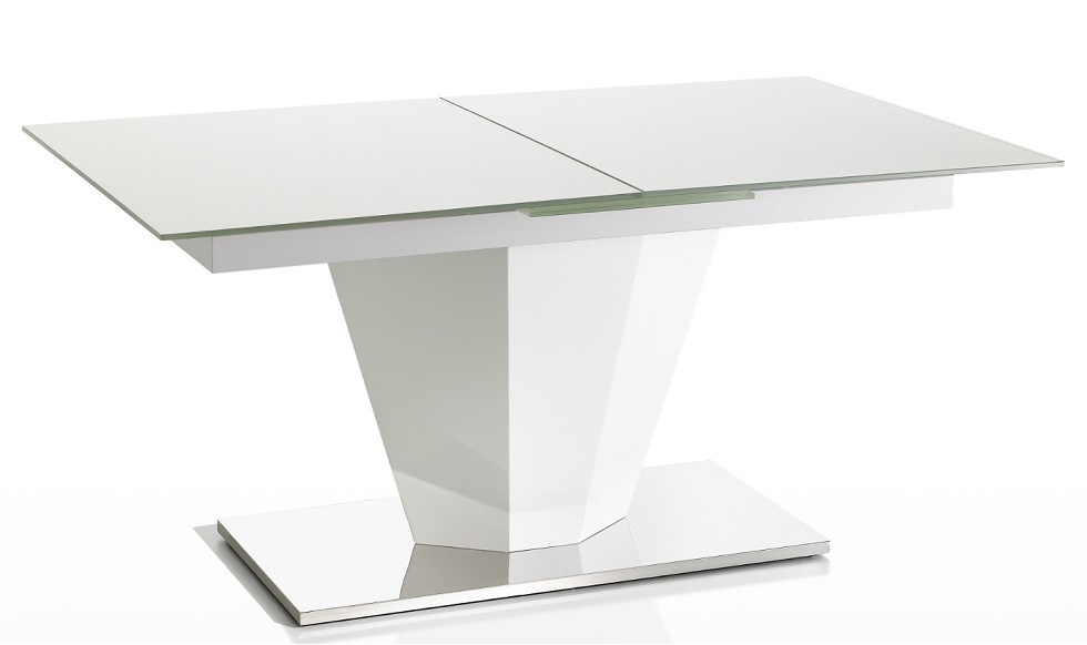 Dining Table - White Glass