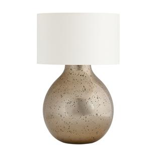Golden glass lamp + white shade
