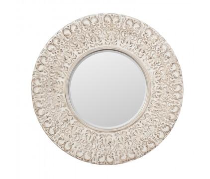 Engraved Round Mirror