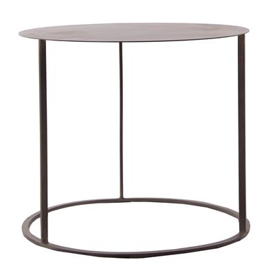 Gunmetal Grey Metal Side Table