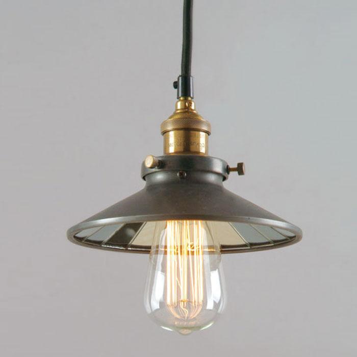 Hanging Lamp - Black Metal Mirror Lamp