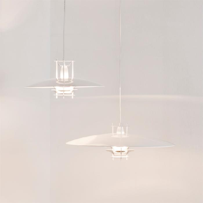 Hanging Lamp White Metal