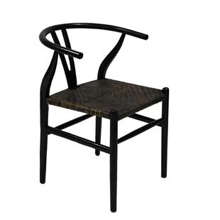 Dark Oak Oriental Armchair