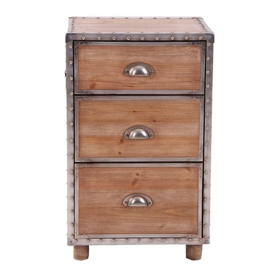 Pine and Aluminium Vintage style drawers